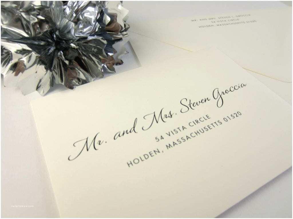 Wedding Invitation Addressing Service Return Addressing