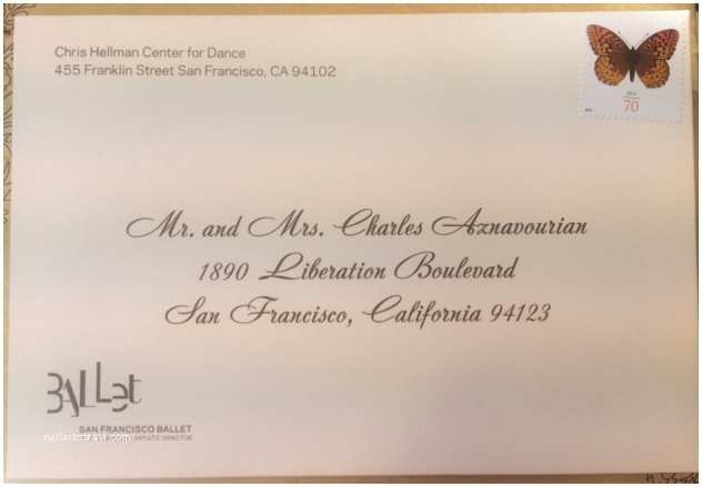 Wedding Invitation Addressing Service Sf Ballet Save the Date Cards Envelope Calligraphy