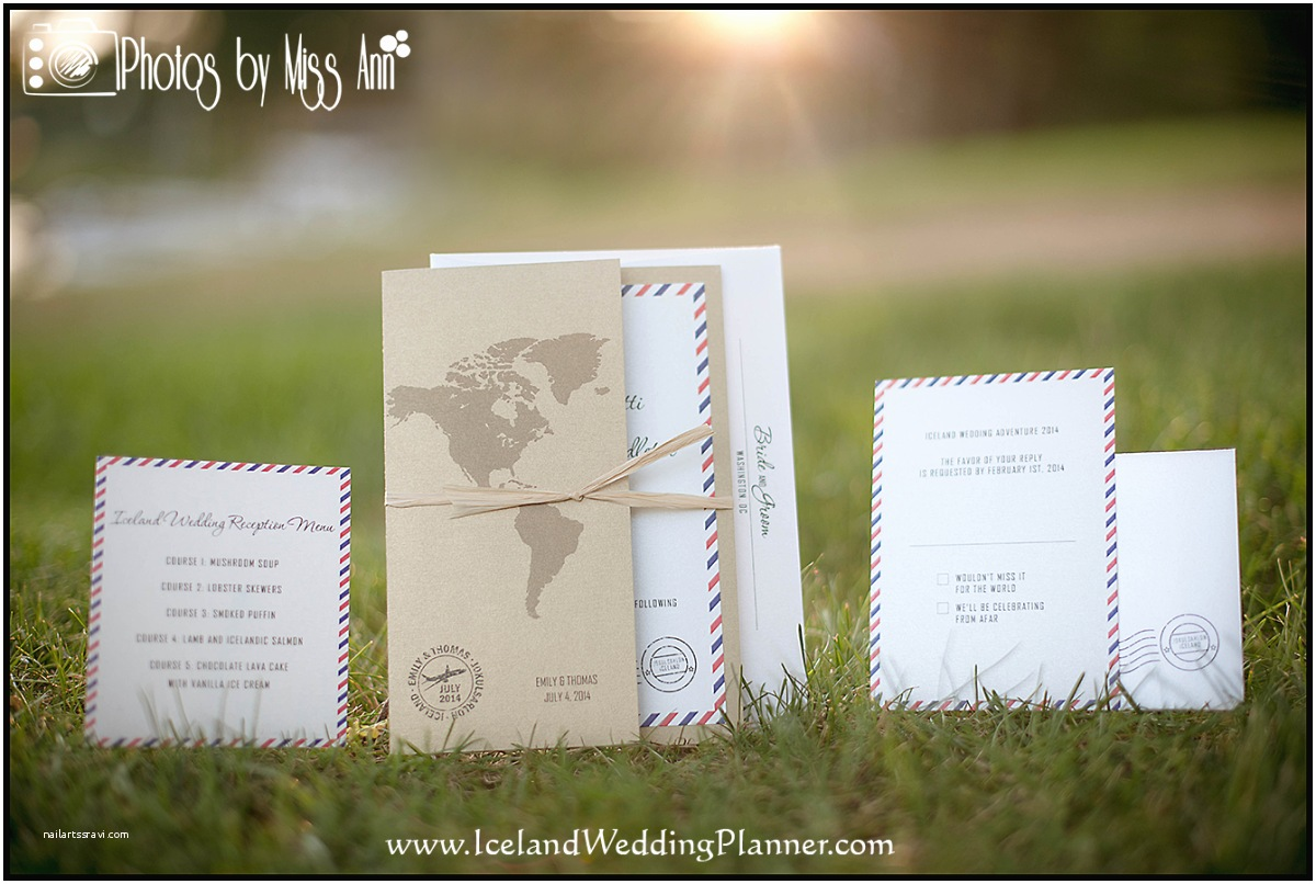 Wedding Invitation Adventure Creative Destination Wedding Invitations for Iceland