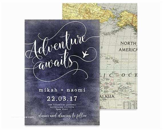 Wedding Invitation Adventure Destination Wedding Invitation