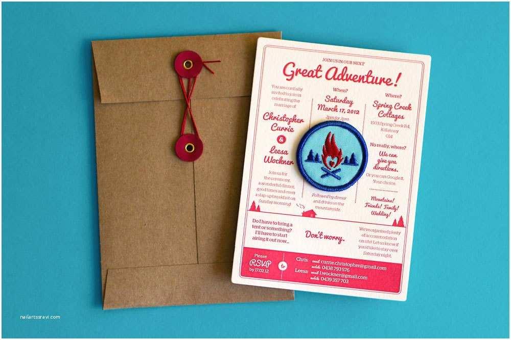 Wedding Invitation Adventure Letterpress Great Adventure Wedding Invitations