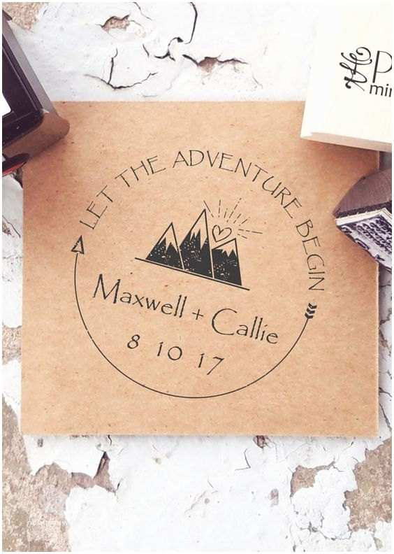 Wedding Invitation Adventure Mountain Stamps Mountain Wedding Outdoor Stamp