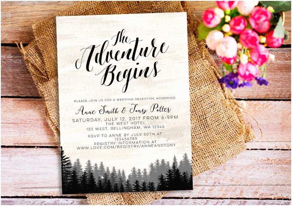 Wedding Invitation Adventure the Adventure Begins Wedding Invitation Wanderlust Wedding