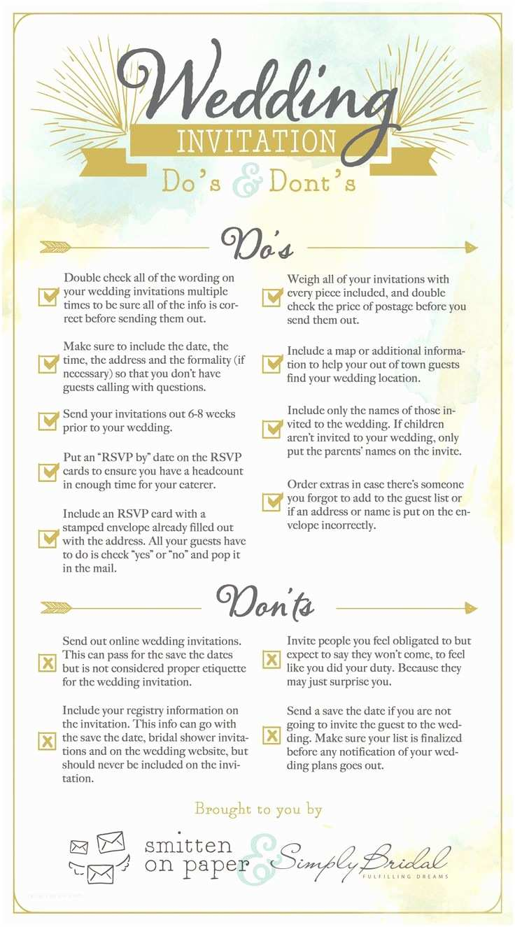 Wedding Invitation Advice How to Create Wedding Invitation Etiquette Free Templates
