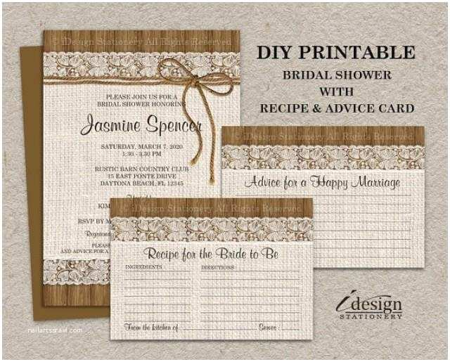 Wedding Invitation Advice Rustic Burlap and Lace Bridal Shower Invitation with