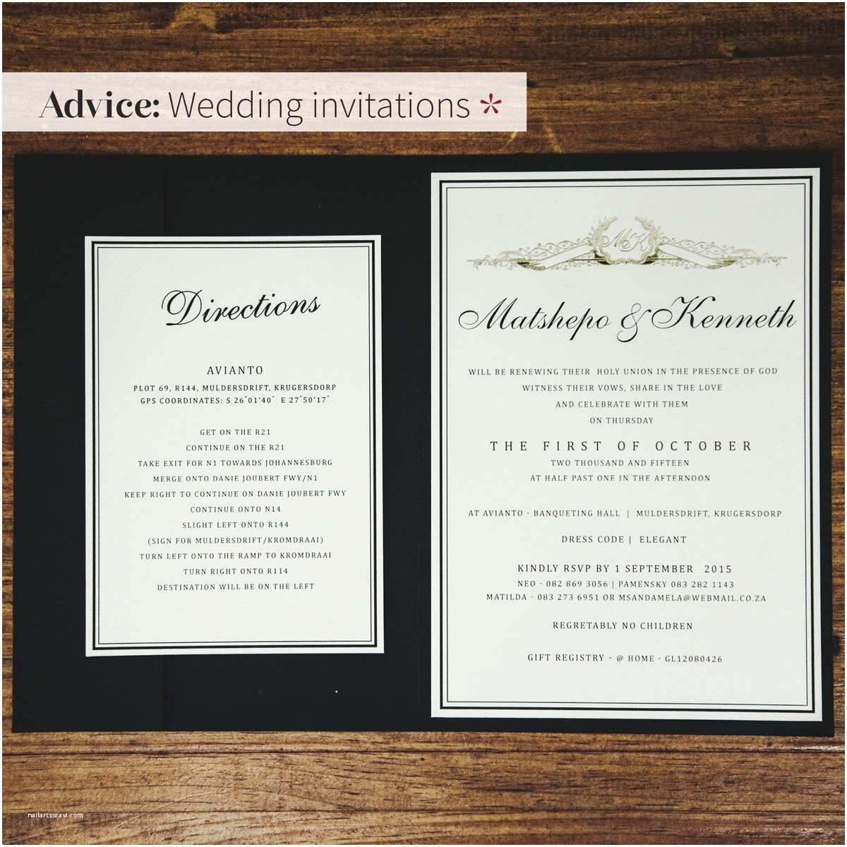 Wedding Invitation Advice the Invite Nubian Bride