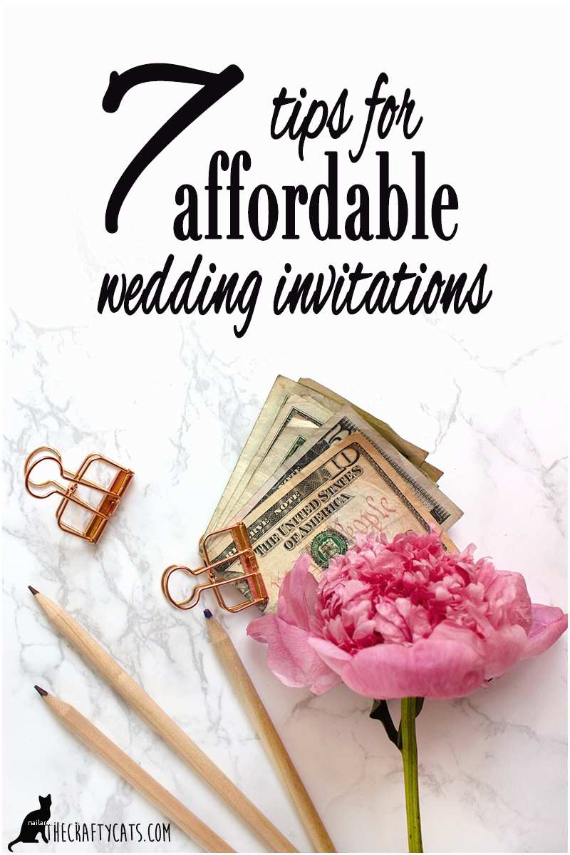 Wedding Invitation Advice Wedding 7 Tips for Low Cost and Affordable Wedding