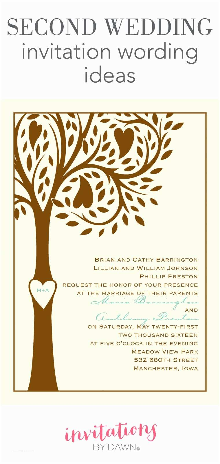 Wedding Invitation Announcement Wording Second Wedding Invitation Wording