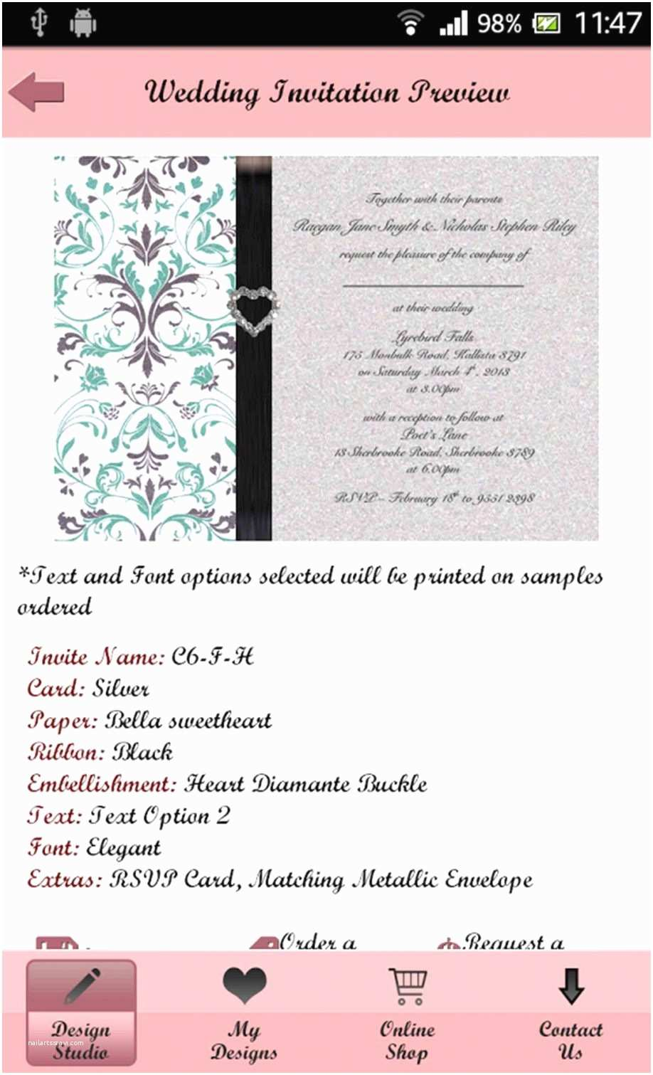 Wedding Invitation App for android Contemporary Wedding Invitation Card Maker Free Download