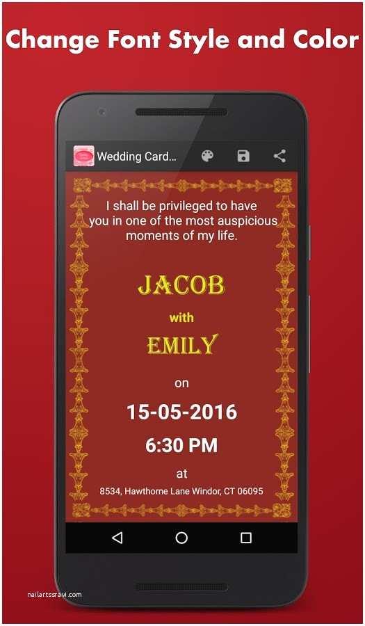 Wedding Invitation App for android Wedding Invitation Card Design App Luxury Wedding Card