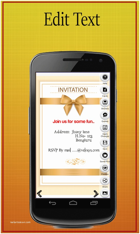 Wedding Invitation App For Android Wedding Invitation Template Cell Phone Beautiful