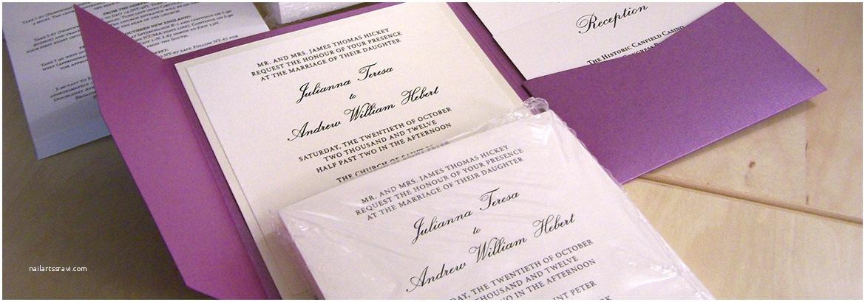 Wedding Invitation Assembly Assembling Pocket Wedding