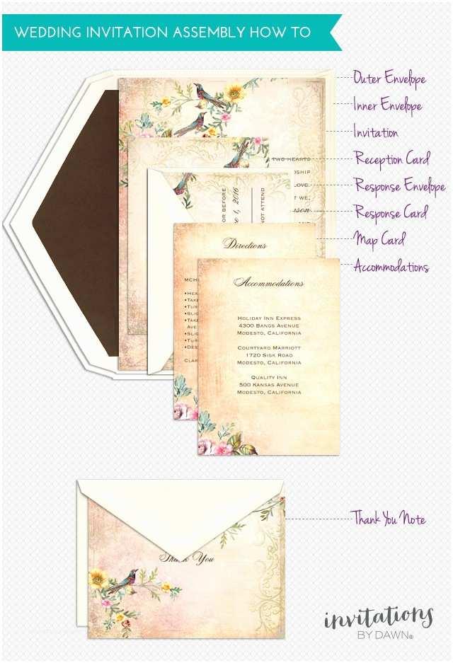 Wedding Invitation assembly assembling Wedding Invitations