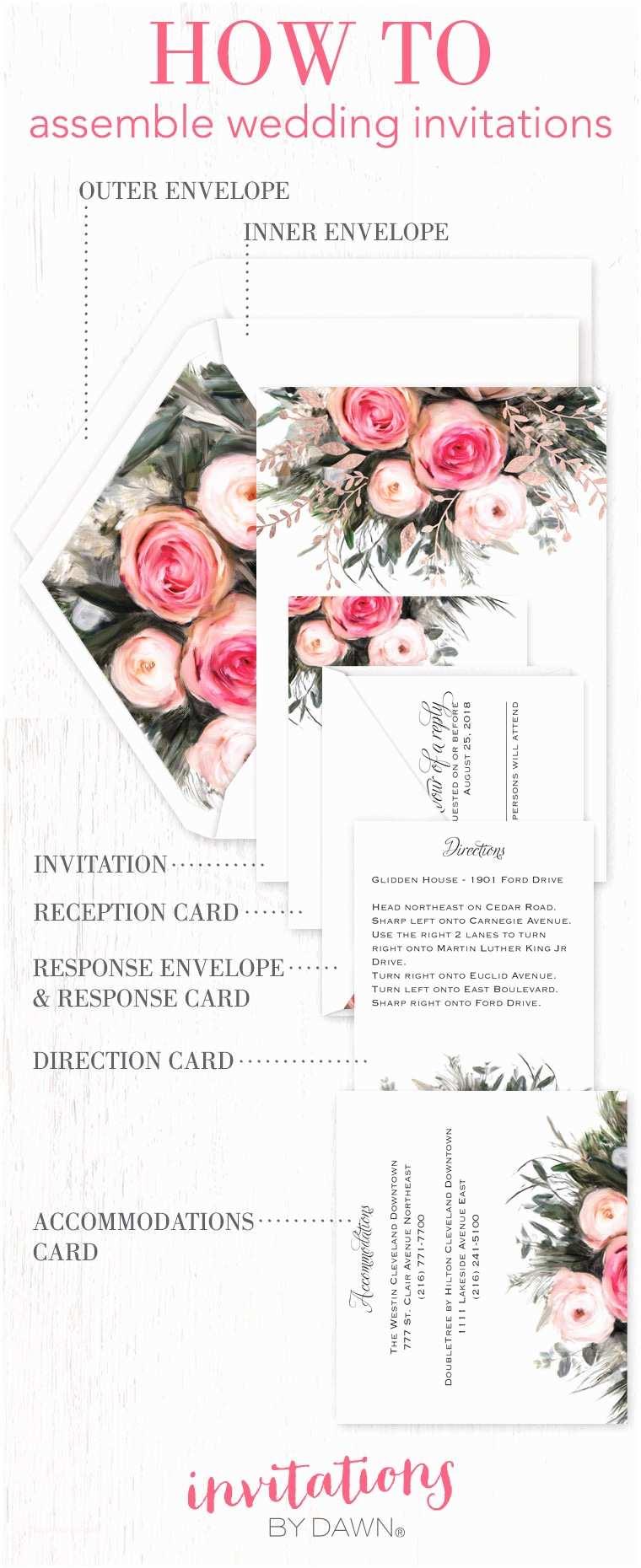 Wedding Invitation Assembly Assembling Wedding