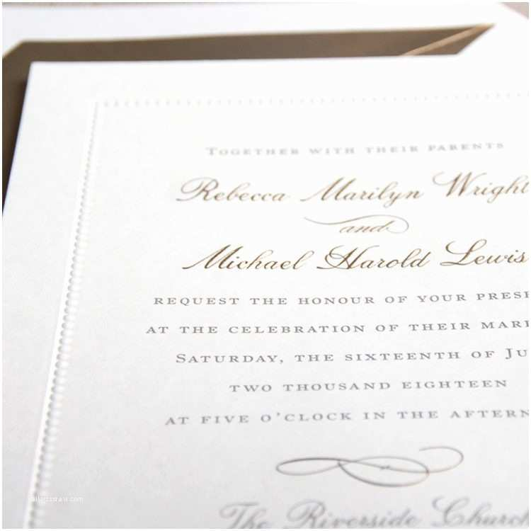 Wedding Invitation Assembly Designs Crane And Co Letterpress Wedding Invitations