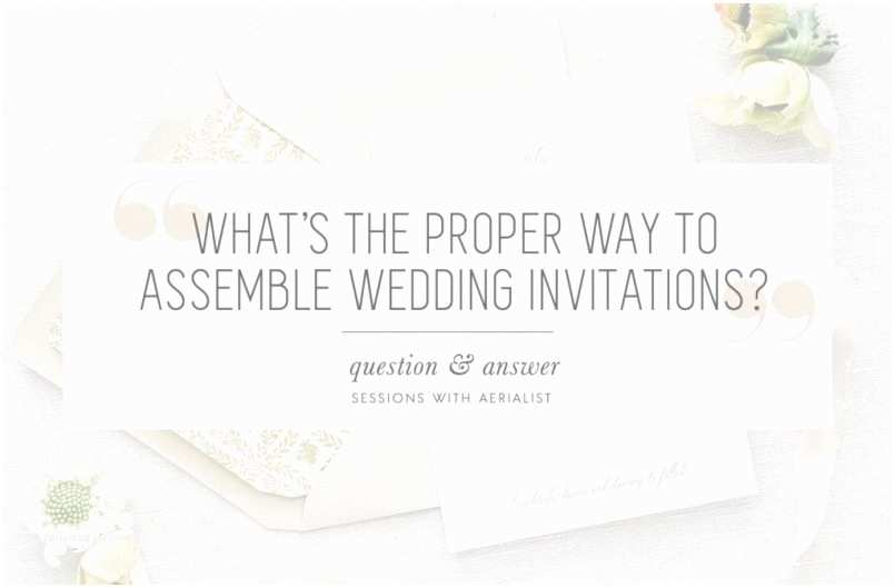 Wedding Invitation Assembly Designs How To Assemble Wedding Invitations Properly