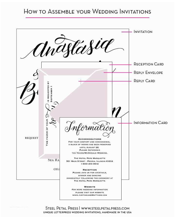 Wedding Invitation assembly How to assemble Wedding Invitations