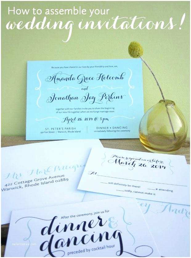 Wedding Invitation Assembly How To Mail Wedding Invitations When Send