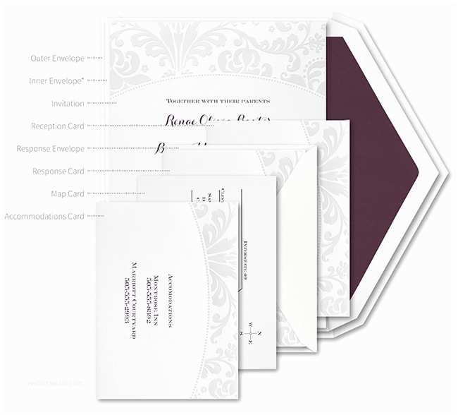 Wedding Invitation Assembly How  Properly Assemble Wedding Invitations – Wel E