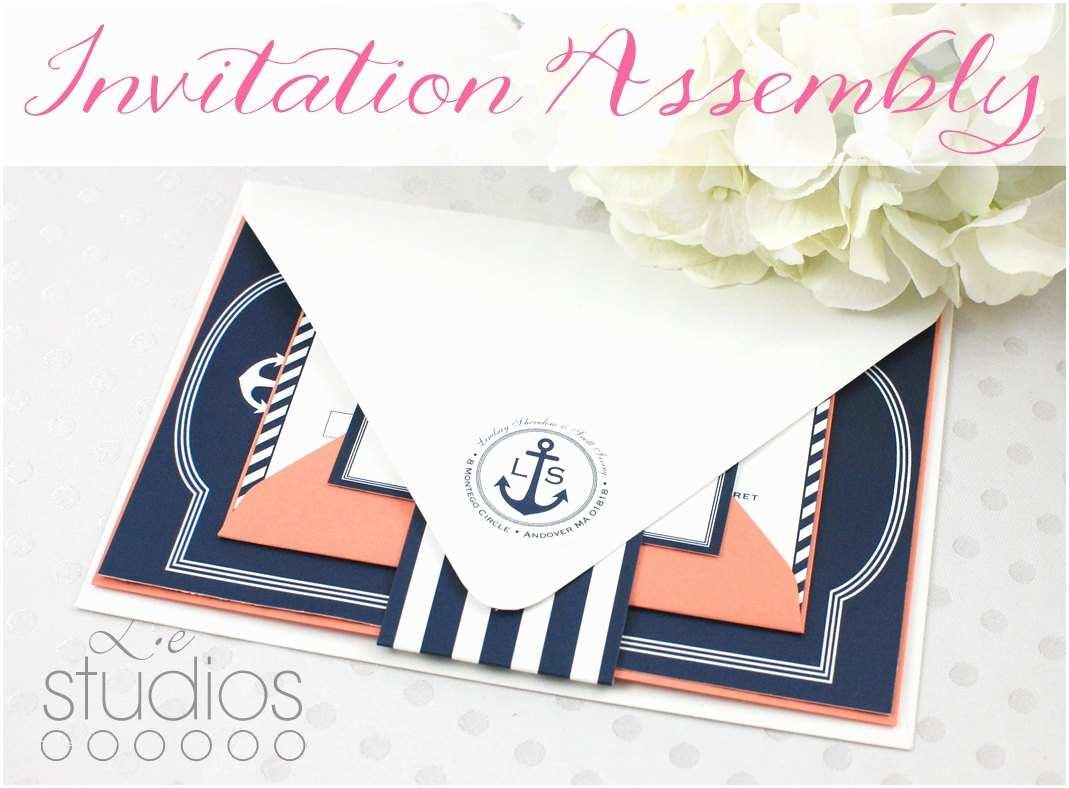 Wedding Invitation Assembly Invitation Assembly Service By Leslieestationery On