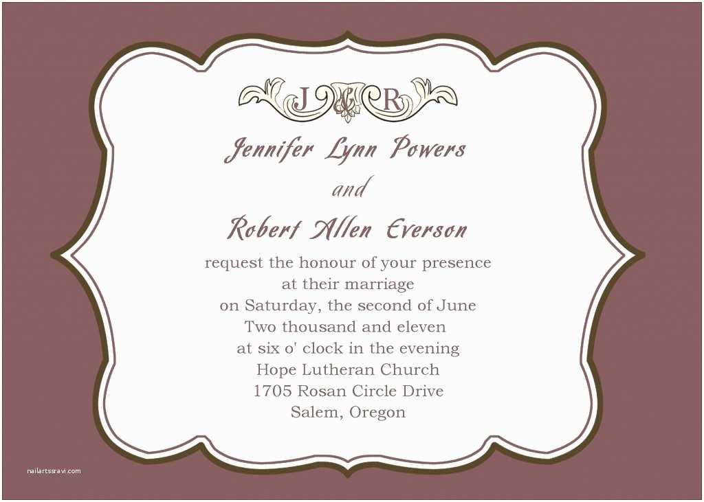 formal attire wedding invitation