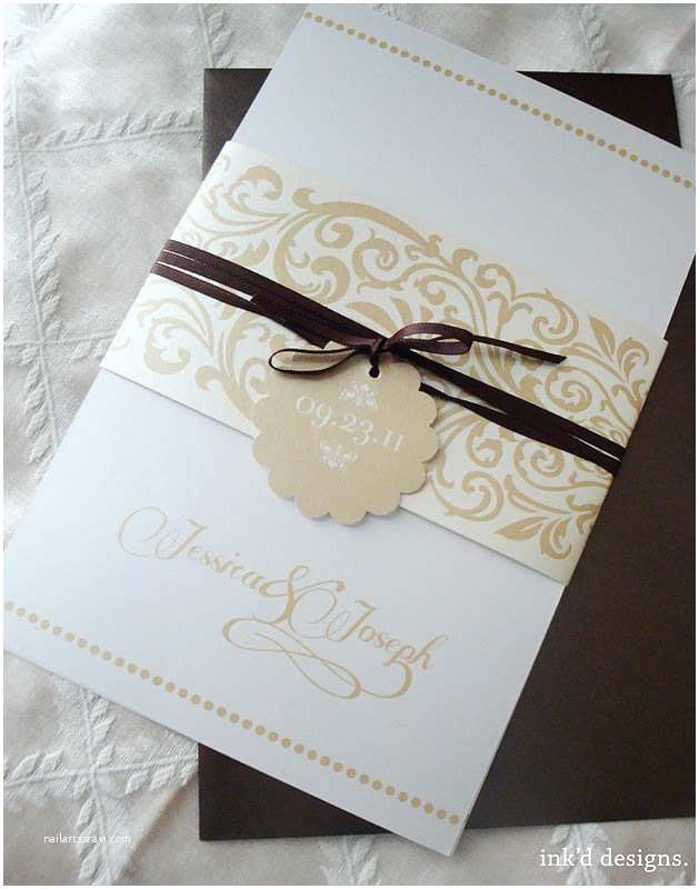Wedding Invitation Bands Belly Bands for Invitations Template