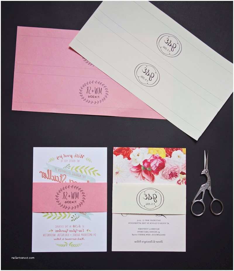 Wedding Invitation Bands Belly Bands for Wedding Invitations