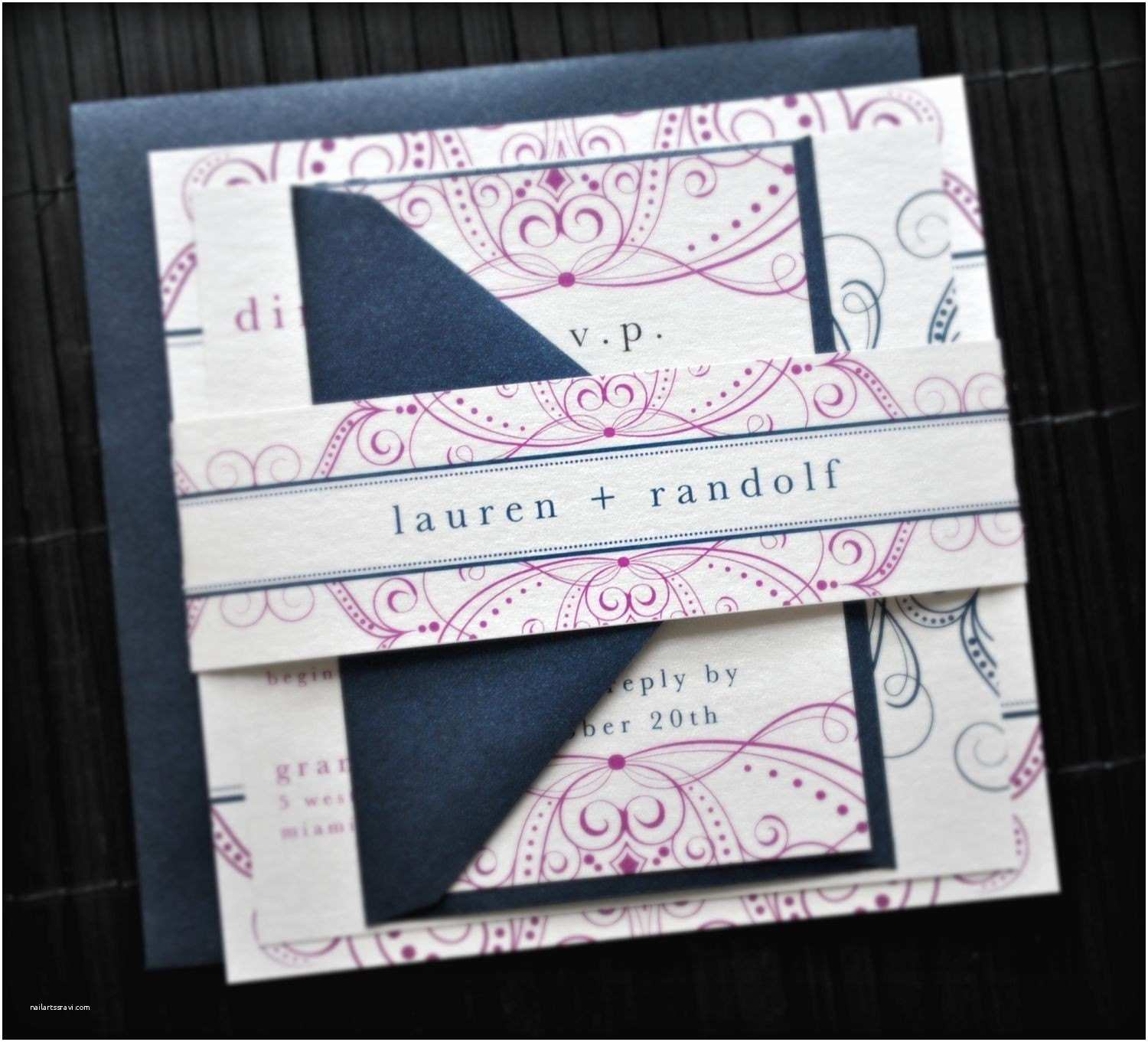 Wedding Invitation Bands Divinity Wedding Invitation Suite with Belly Band by Lvandy27