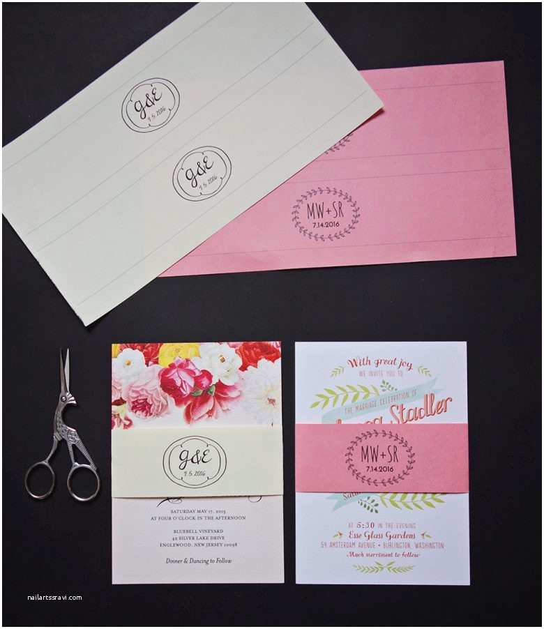 Wedding Invitation Bands Free Printable Belly Bands and Tags for Your Diy Invitations