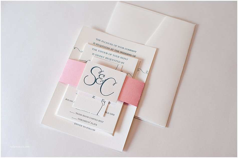 real wedding susan and chad letterpress wedding invitations with belly bands