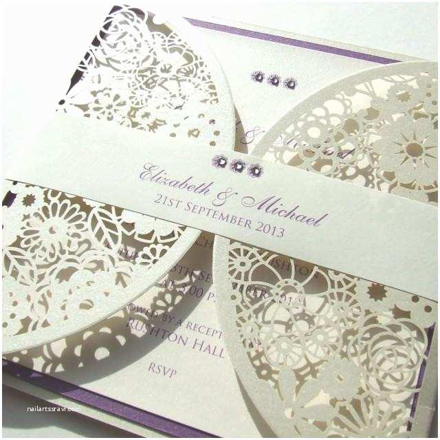Wedding Invitation Belly Band Laser Cut Wedding Invitation with Paper Belly Band