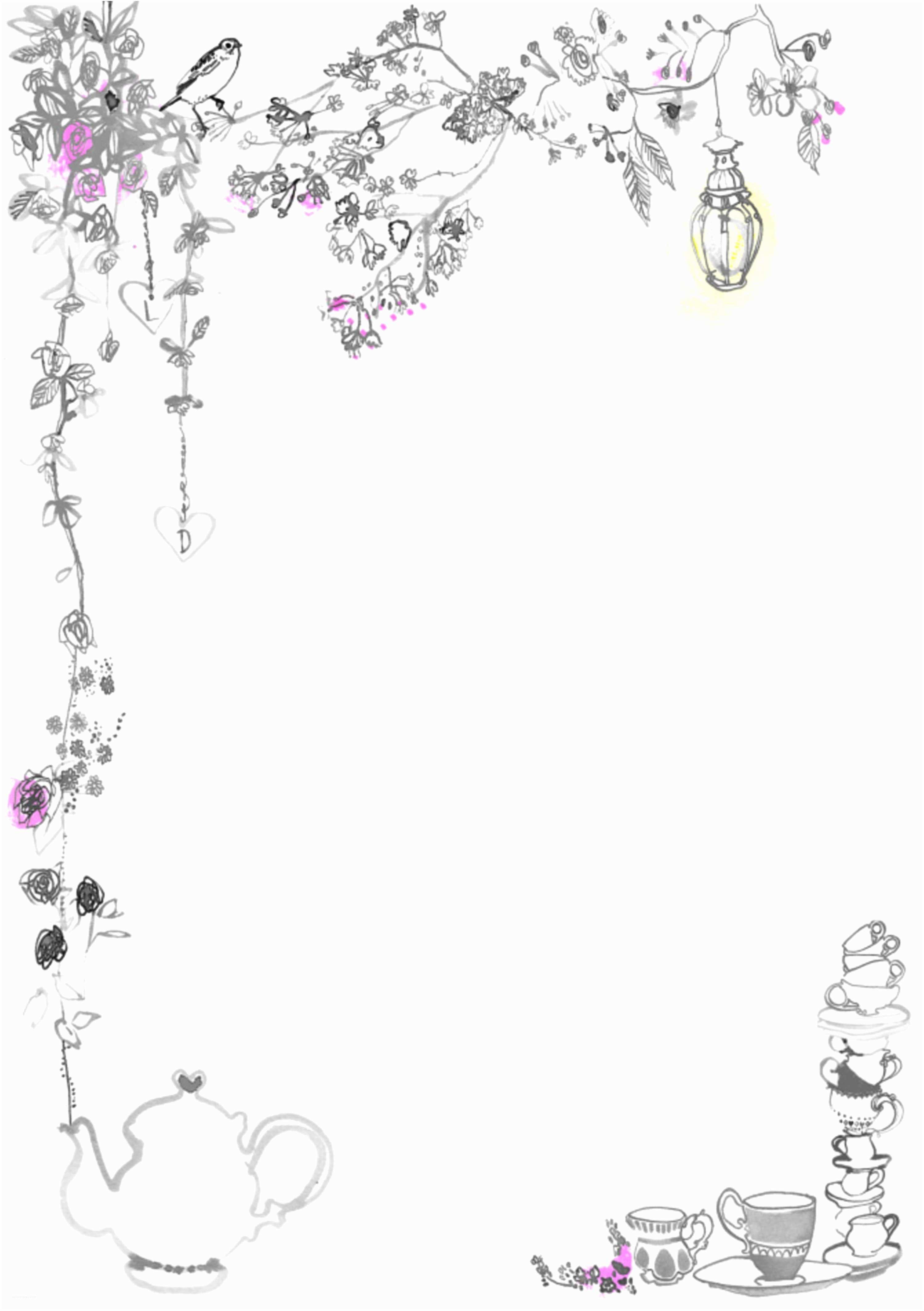 floral border border blank wedding invitation templates