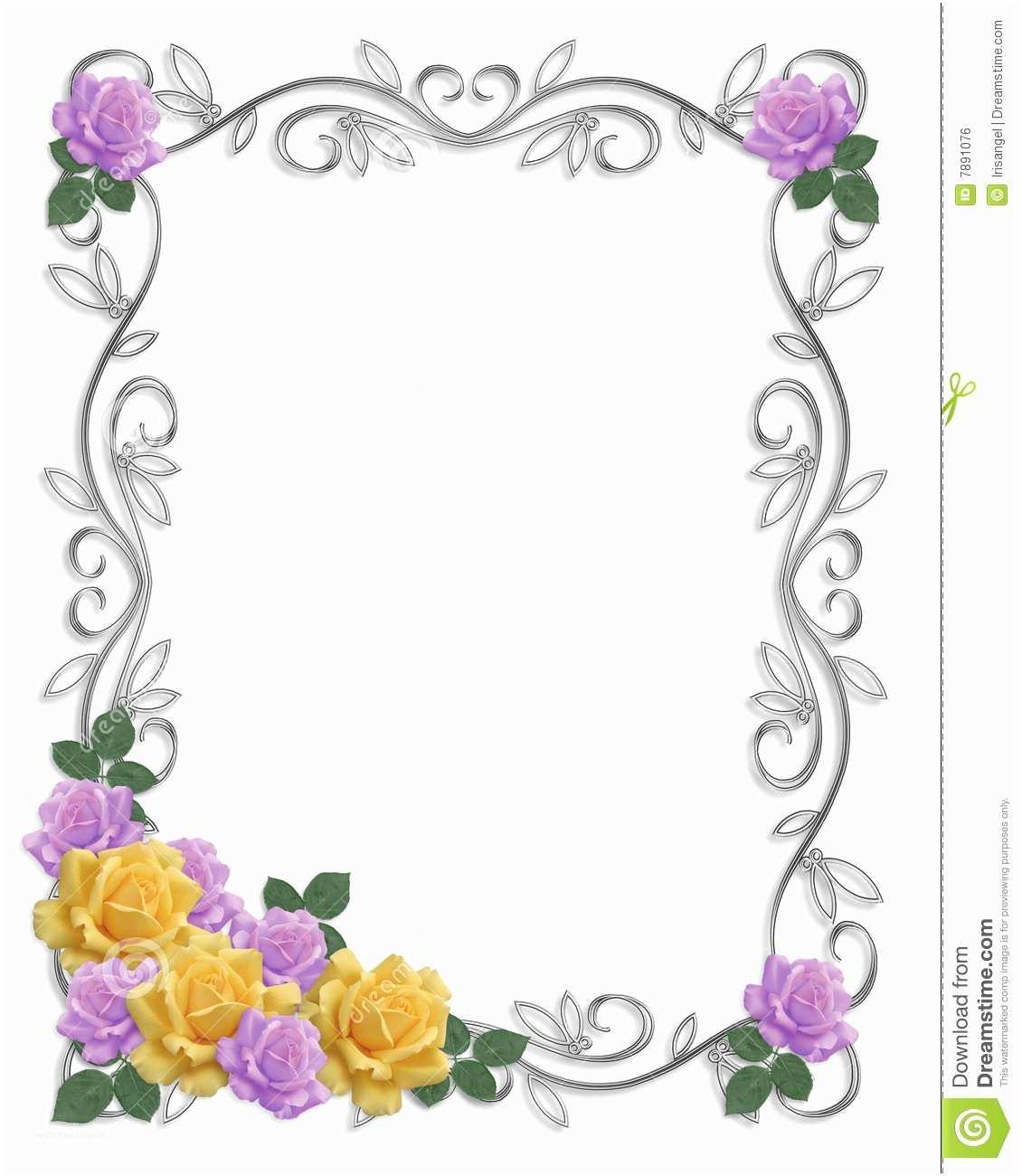 Wedding Invitation Borders Design Art Wedding Frames to Pin On Pinterest
