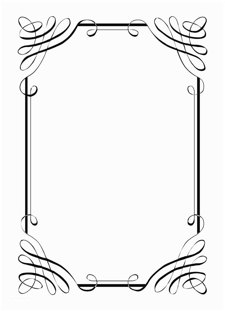 Wedding Invitation Borders Free Vintage Clip Art Images Calligraphic Frames and Borders