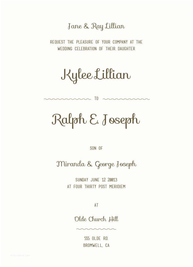 Wedding Invitation Both Parents Wording Samples 12 Sample Wording for Wedding Invitations