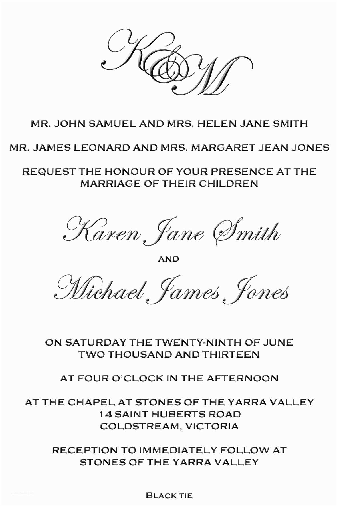 Wedding Invitation Both Parents Wording Samples Wedding Invitation Wording Both Parents