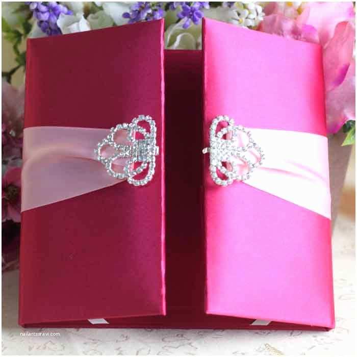 Wedding Invitation Boxes Cheap 2015 New Products Luxury Silk Box Wedding Invitations