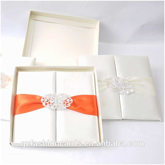 Wedding Invitation Boxes Cheap Factory Price wholesale Wedding Invitations Silk Boxes