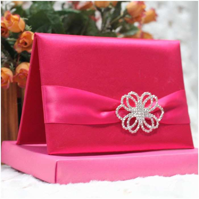 Wedding Invitation Boxes Cheap Line Buy wholesale Silk Wedding Invitation Box From