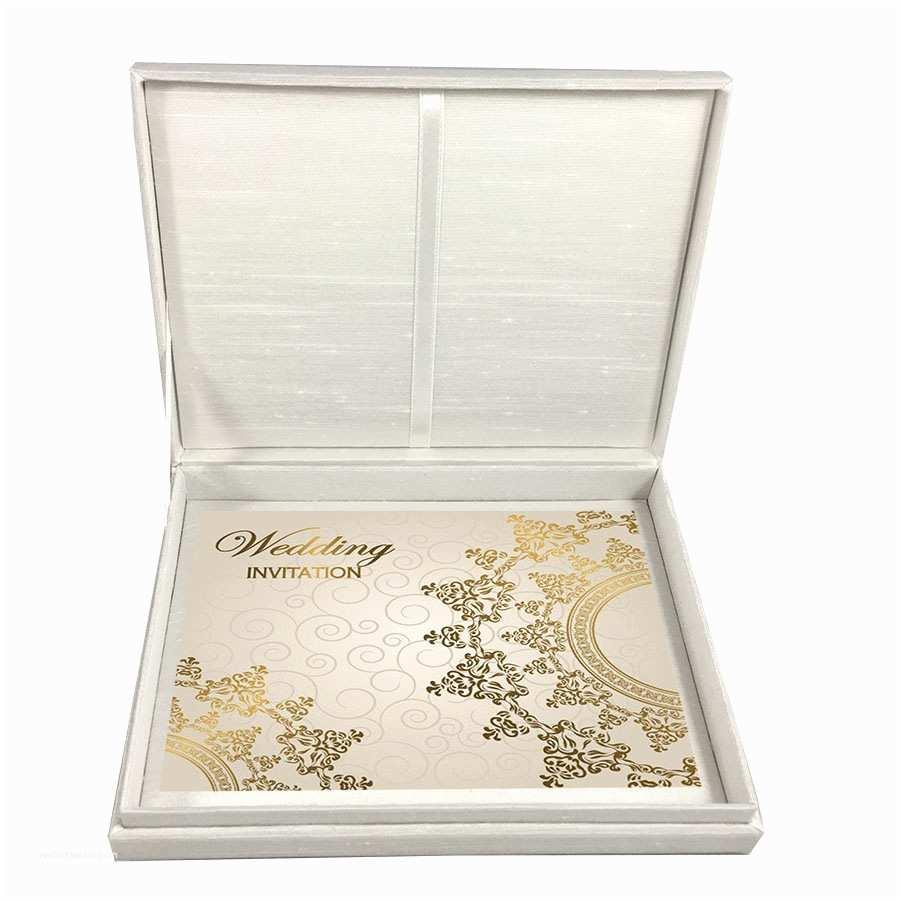 Wedding Invitation Boxes Cheap Luxurious Peacock Invitation Creation with White Dupioni