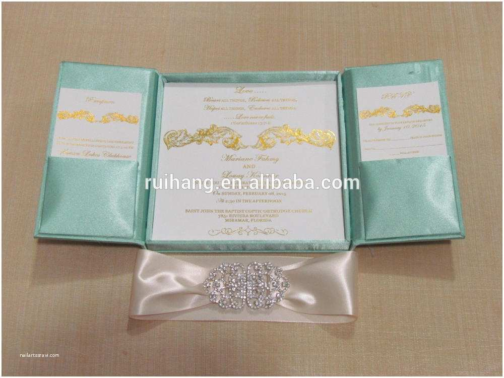 Wedding Invitation Boxes Cheap Popular Elegant Royal Gatefold Silk Wedding Invitation Box