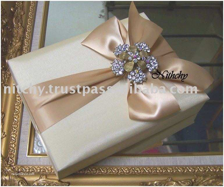 Wedding Invitation Boxes Cheap Silk Box Wedding Invitations