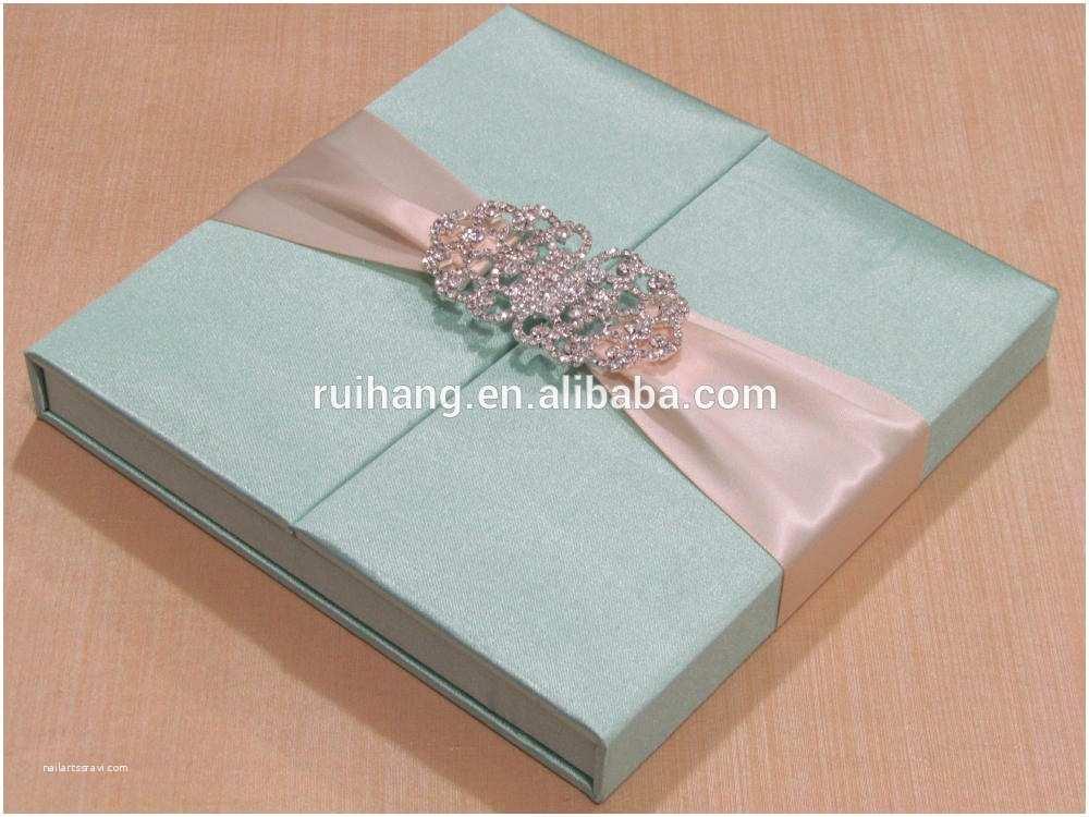 Wedding Invitation Boxes Cheap Silk Box Wedding Invitations wholesale