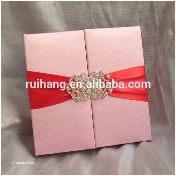Wedding Invitation Boxes Cheap wholesale Silk Wedding Invitation Silk Box