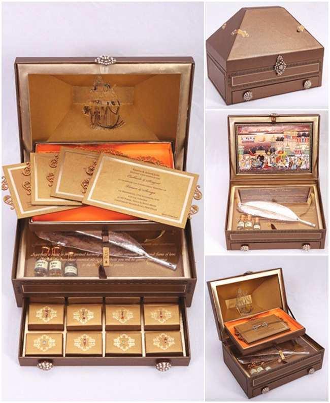 Wedding Invitation Boxes Indian Wedding Invitation Boxes