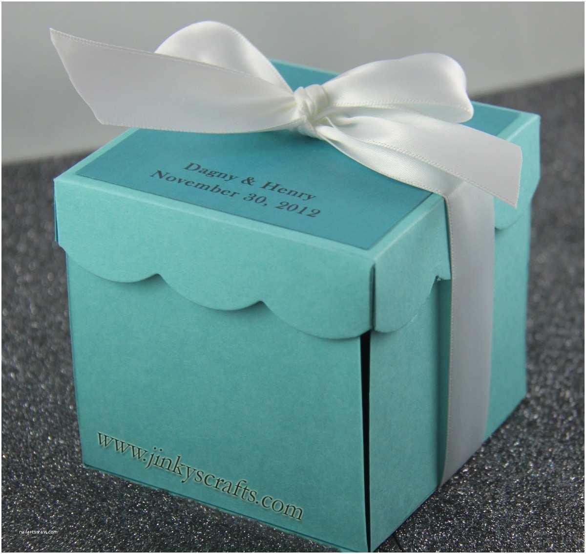 tiffany inspired invitation box