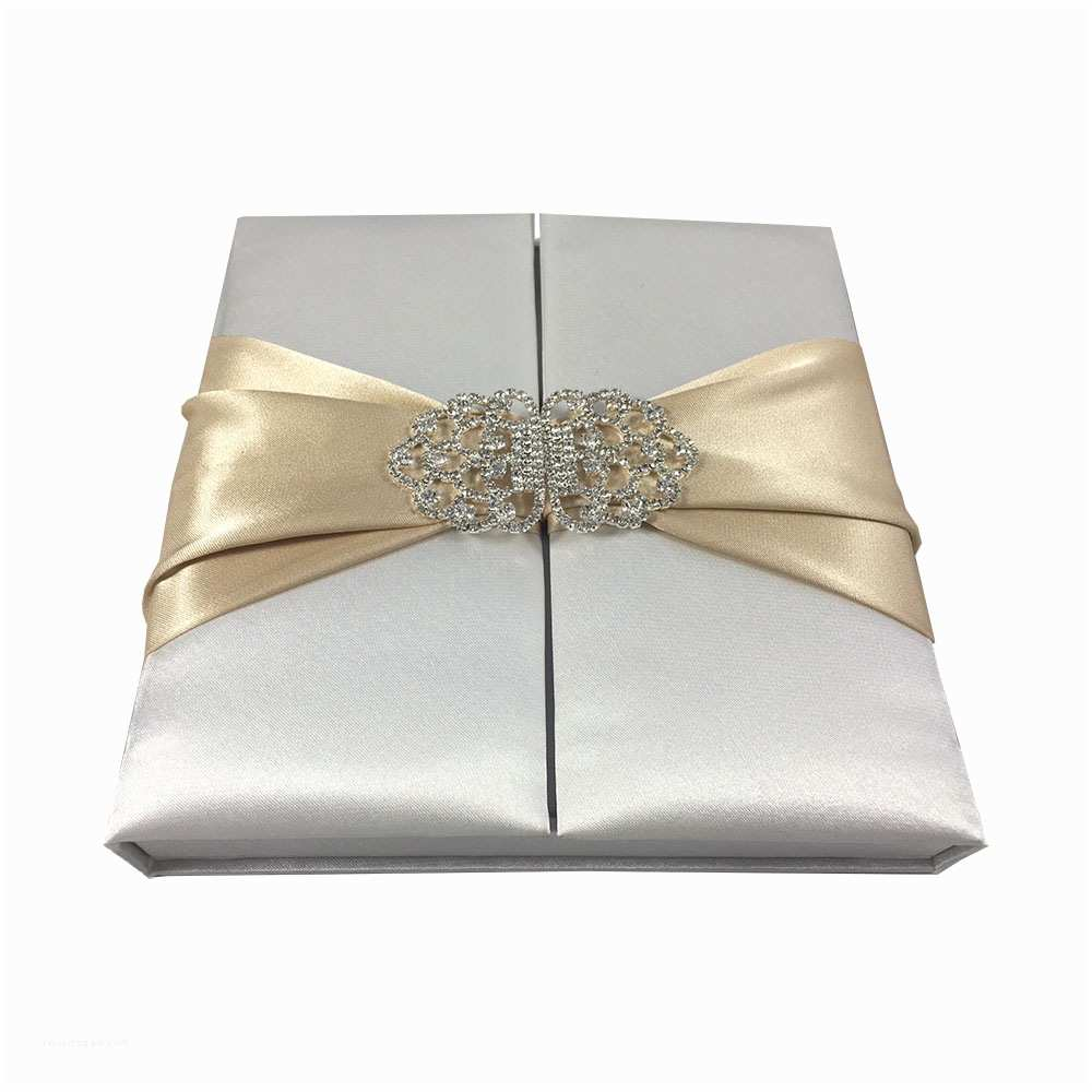 Wedding Invitation Boxes Premium Quality Satin Silk Box for Wedding Invitation