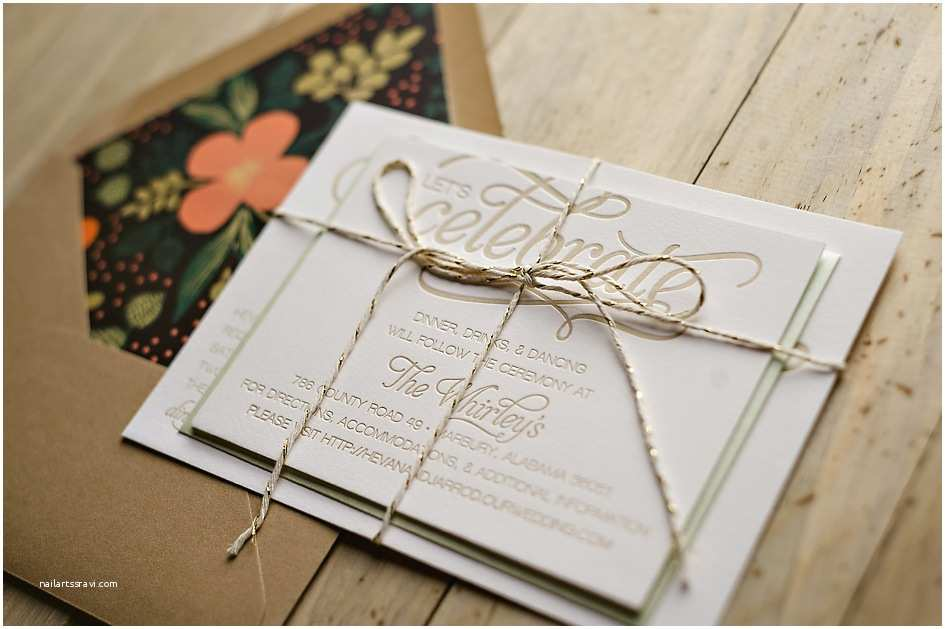 Wedding Invitation Brands Rustic Letterpress Wedding Invitations