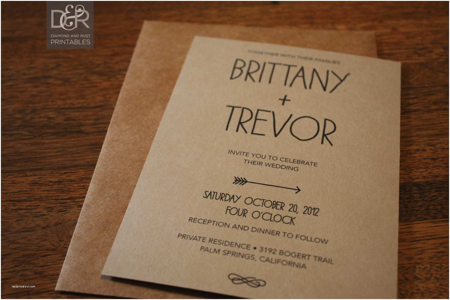 Wedding Invitation Brands Rustic Wedding Invitations Templates