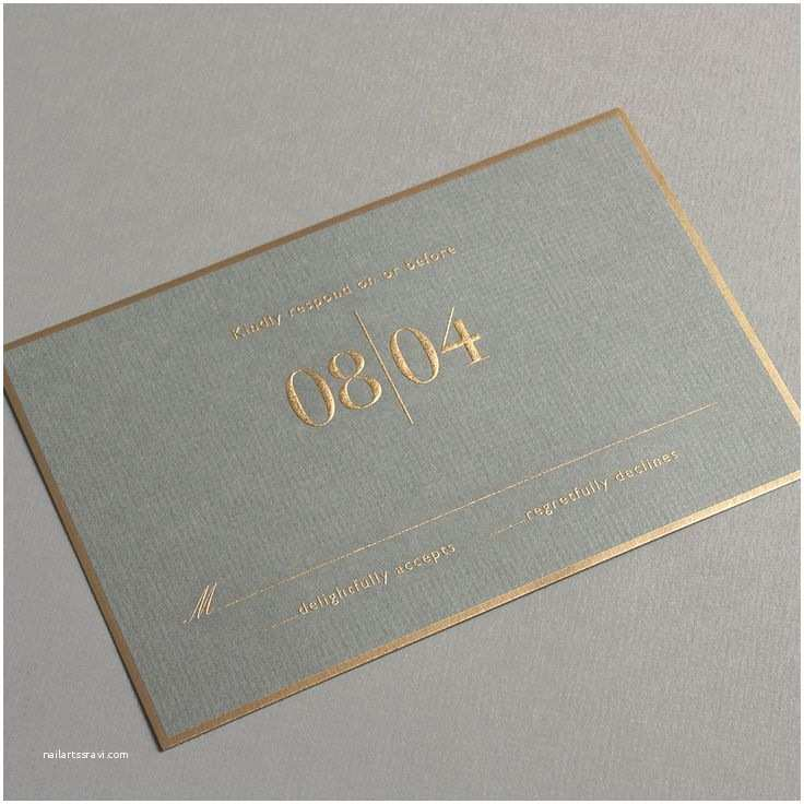 Wedding Invitation Brands Vera Wang Engraved Gold Bordered Light Grey Wedding